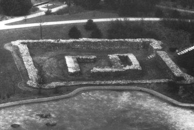 Grabungsbefund Reitersdorf, Aufnahme 1980 (Foto aus: Gechter 1984)