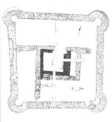 Befundsplan der Burganlage (aus: Gechter 1980)