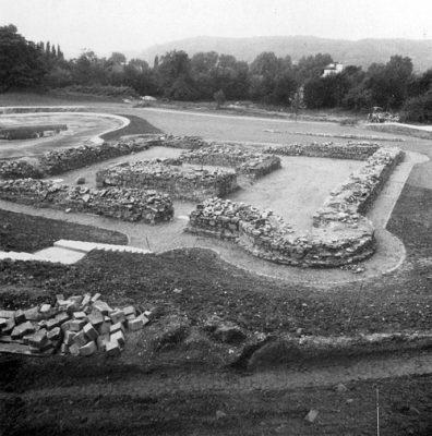 Die Burg während der Restaurierung 1980 / 1981